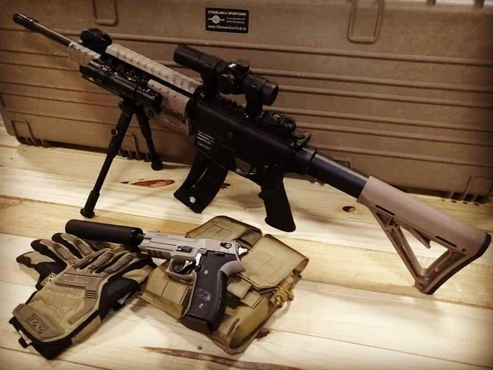 Strzelnica sportowa - broń